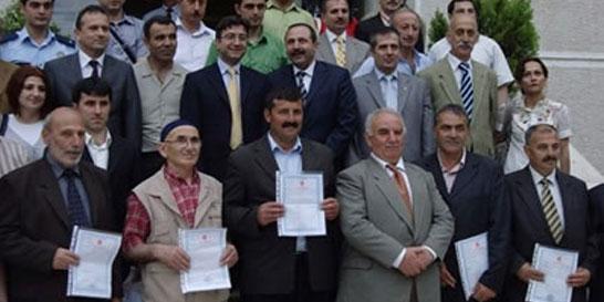 Tapu Dağıtım Töreni – Trabzon 28. Grup Sayısal Kadastral Harita Yapım İşi